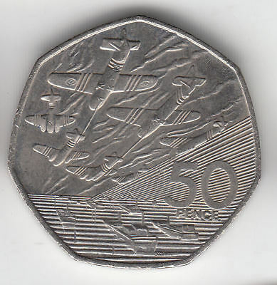 Gb 50 Pence 1994 Battle Of Britain Unc         104E         By Coinmountain