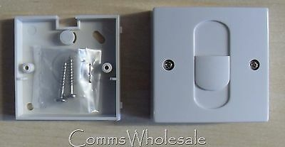 Commtel BT Style Compact Telephone Single Surface Extension Socket with back box