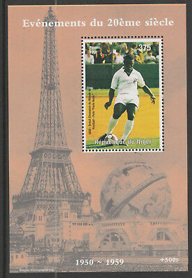 Niger Rep 6224 - 1998 EVENTS OF 20th CENTURY - PELE FOOTBALL  m/sheet u/m