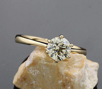 WOW ! Brillant-Ring 1,02 ct VS Top Brillanz 750 Gelbgold VKP € 17.720 Neu