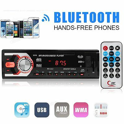 Car Stereo In-Dash FM Radio Audio Receiver MP3 Player Bluetooth SD USB Aux 8258