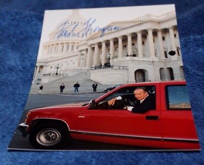 """7 x 5 Photo ~ AUTOGRAPHED - The Late Sen. FRED THOMPSON """"Law & Order"""" + more"""