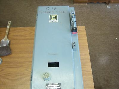 Used Square D SBG 12 Combination Starter Enclosure