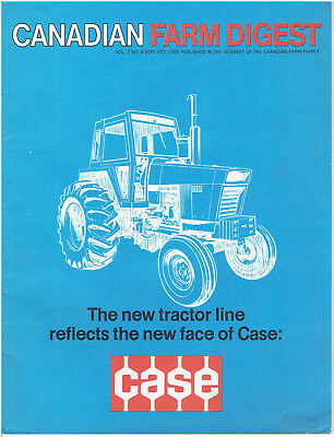 Fall 1969 Canadian Farm Digest Magazine featuring New Case Tractors