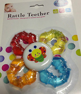 Baby Rattle Teether Baby Child Kid Infant Water Filled Teether Animal Shapes