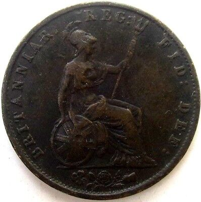 Great Britain Uk Coins, Half Penny 1853, Victoria