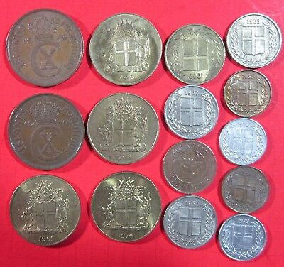 Iceland. Vintage Lot Of 15 Assorted  Coins. See Pics.