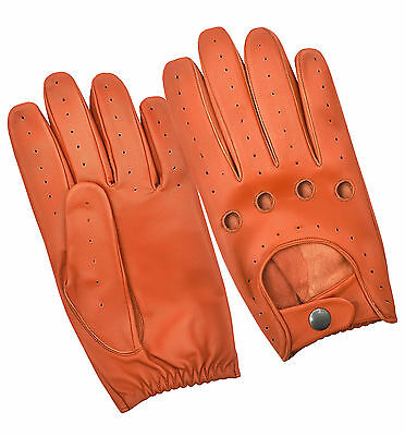 Sheep Nappa Soft Leather Men/'s Driving Dress Gloves Chauffeur Retro Unlined