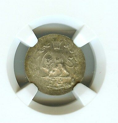 Middle Eastern (Undated) Silver Shahi  Km#965 Ngc Ms62  Scarce!