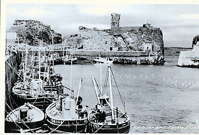 Postcard - Fishing Boats in Harbour, Dunbar, East Lothian. Unposted.