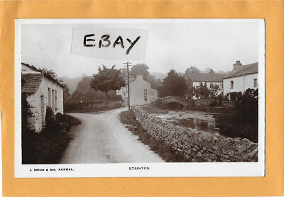 Early Real Photo Postcard Stainton Village Nr. Kendal J. Simco & Son