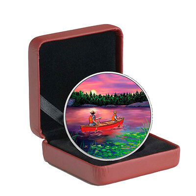 2017 Canada Great Outdoors Sunset Canoeing 3/4 oz. Proof Silver $15 OGP SKU46601