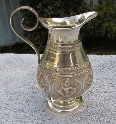 Superb Antique 19thC Solid Silver Indian Cream Jug Circa 1890 - Fine Detail
