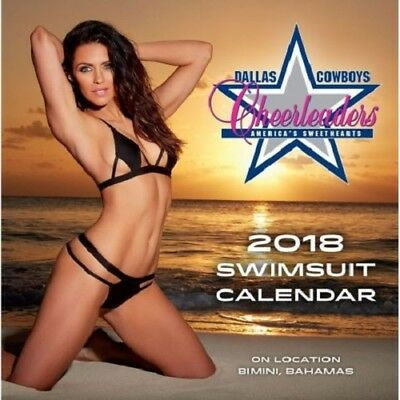 NFL Cheerleaders Dallas Cowboys Box Swimsuit Kalender Schreibtischkalender 2018