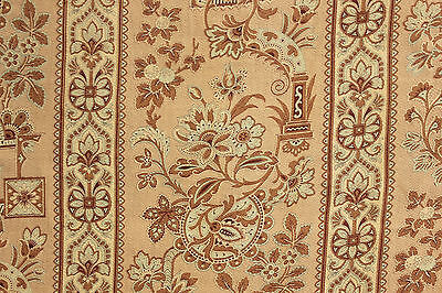 Antique French Arts and Crafts fabric material w/ chinoiserie influence ~ Lovey