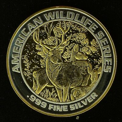 "Foxwood's American Wildlife Series ""LM"" 24k Gold & Silver Gaming Strike (ss20.34"