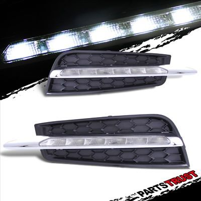 2011 2012 2013 Chevy Cruze SMD LED Driving DRL Fog Lights Clear Lamps 6000K Pair