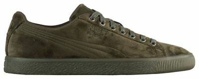 best authentic 49cb3 8b298 PUMA Clyde Velour Ice Men s Olive Night 36654903