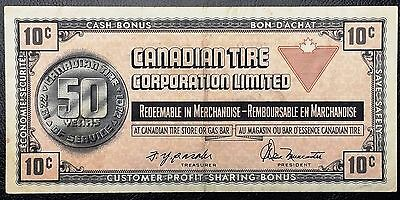 Vintage 1972 Canadian Tire 10 Cents Note - Great Condition - Free Combined S/H