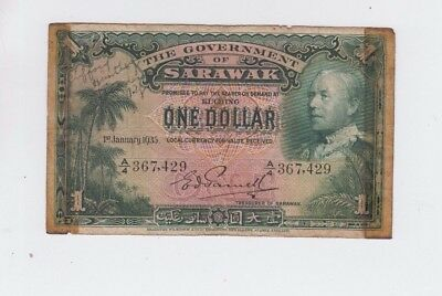 Sarawak one old note tape lower grade