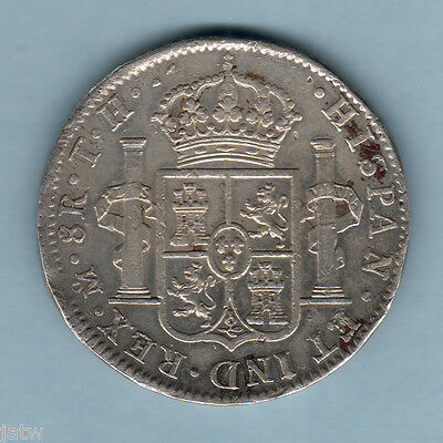 Mexico. 1804-TH  8 Reales..  Mexico Mint..  aVF/gVF