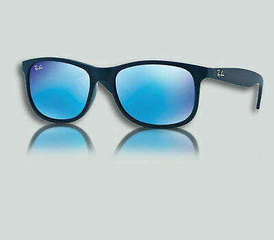 ac42f7a190 Authentic Ray Ban 0RB4202 ANDY 615355 SHINY BLUE ON MATTE TOP Sunglasses