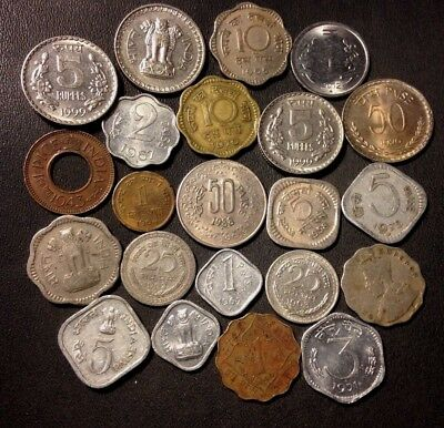 Old India Coin Lot - 1919-PRESENT - 22 VINTAGE Collectible Coins - Lot #N16