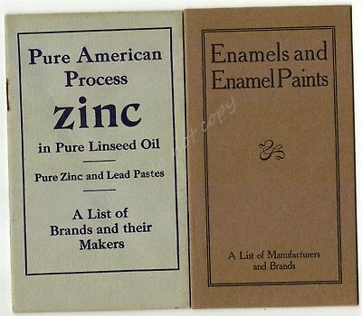 New Jersey Zinc Company 2 Vintage Booklet Enamel Paint Lead Pastes Brands Makers
