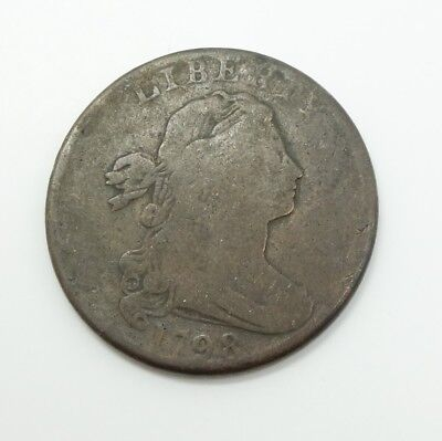 Estate Found United States 1798 Draped Bust Copper Large Cent Coin