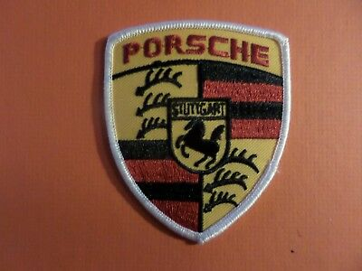 PORSCHE red & yellow & black Embroidered 3 x 3-1/2 Iron Or Sew On Patch
