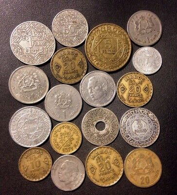 Old Morocco Coin Lot - 1921-PRESENT - 18 Uncommon Coins - Lot #N16