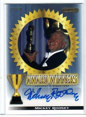 Mickey Rooney 2010 Razor Award Winners Authentic Signatures Auto 39/50 Autograph