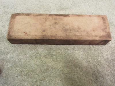 Unmarked Vintage White Hard Arkansas Razor Hone / Sharpening Stone Very Fine