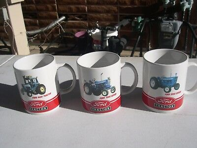 Ford~Tractor~Collector Coffee/cocoa Mug Series~Lot Of (3) 5000, 7000, & 9600