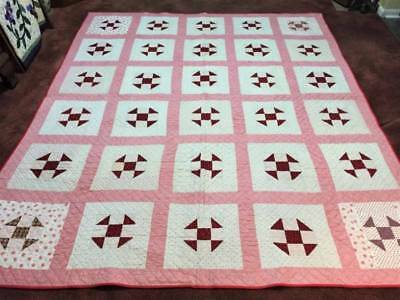 Early 1900's Churn Dash Antique Quilt w/Provenance