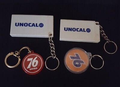 Four Vintage Union 76 Key Chains