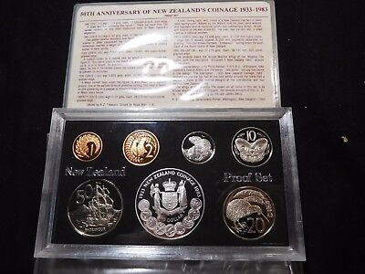 INV #T34 New Zealand 1983 Silver Proof Set