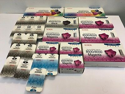 Lot of Genuine Xerox 8500/8550 Solid Ink 108r00670, 108r00668, 108r00669