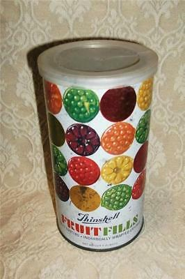 Vintage Thinshell Fruitfills Candies Metal Lusk Candy Tin Can Iowa ~Uncle Bill's