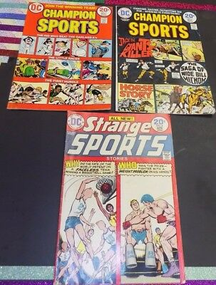 DC Sports Comics Lot -VG to VF- 3 Comics -DC-