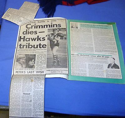 1976 AFL Football Footy Record VFL Grand Final Hawthorn Nth Melbourne CRIMMINS