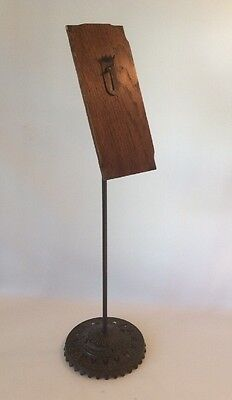 Antique Oscar Onken Victorian Shoe Stand Store Display Wood w/cast Iron
