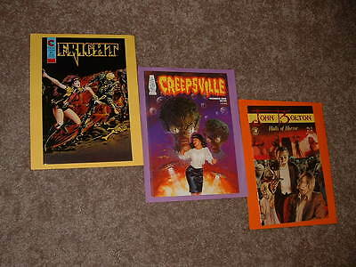 John Bolton Halls of Horror 1 & Creepsville 1 & Fright 1 Very Fine Free Shipping