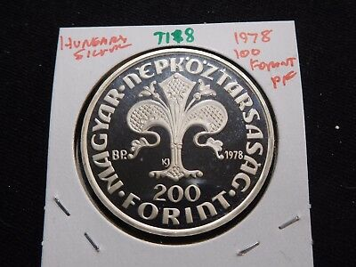 INV #T188 Hungary 1978 Silver 100 Forint Proof