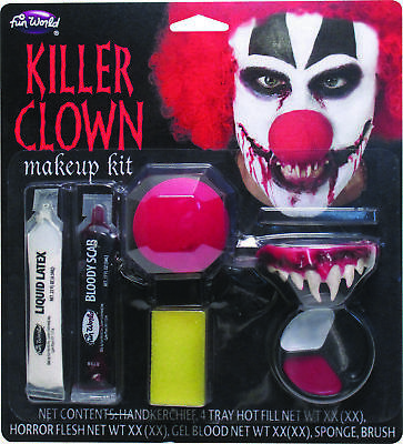 Killer Clown Make Up Kit  Costume Accessories
