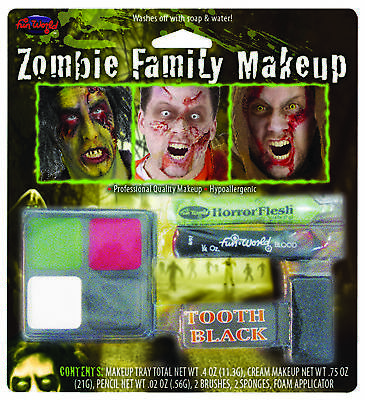 Zombie Family Makeup Kit  Costume Accessories
