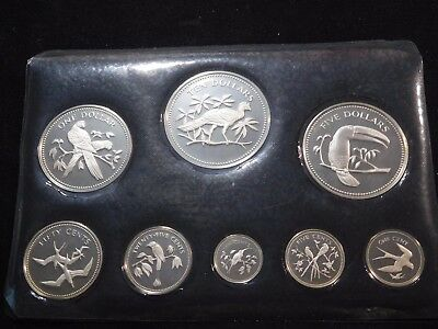 INV #T226 Belize 1974 Solid Sterling Silver Proof Set No Box