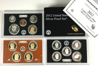 USA 2012 United States Mint Silver Proof Set mit Zertifikat Umverpackung