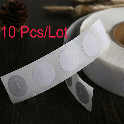 10 Clear 25mm NFC Tags Stickers NTAG213 Android Nokia Samsung LG Windows
