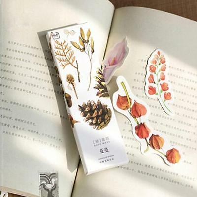 30Pcs Flower Plant Cute Bookmarks Book Markers Label Gift Readers Lovers LA